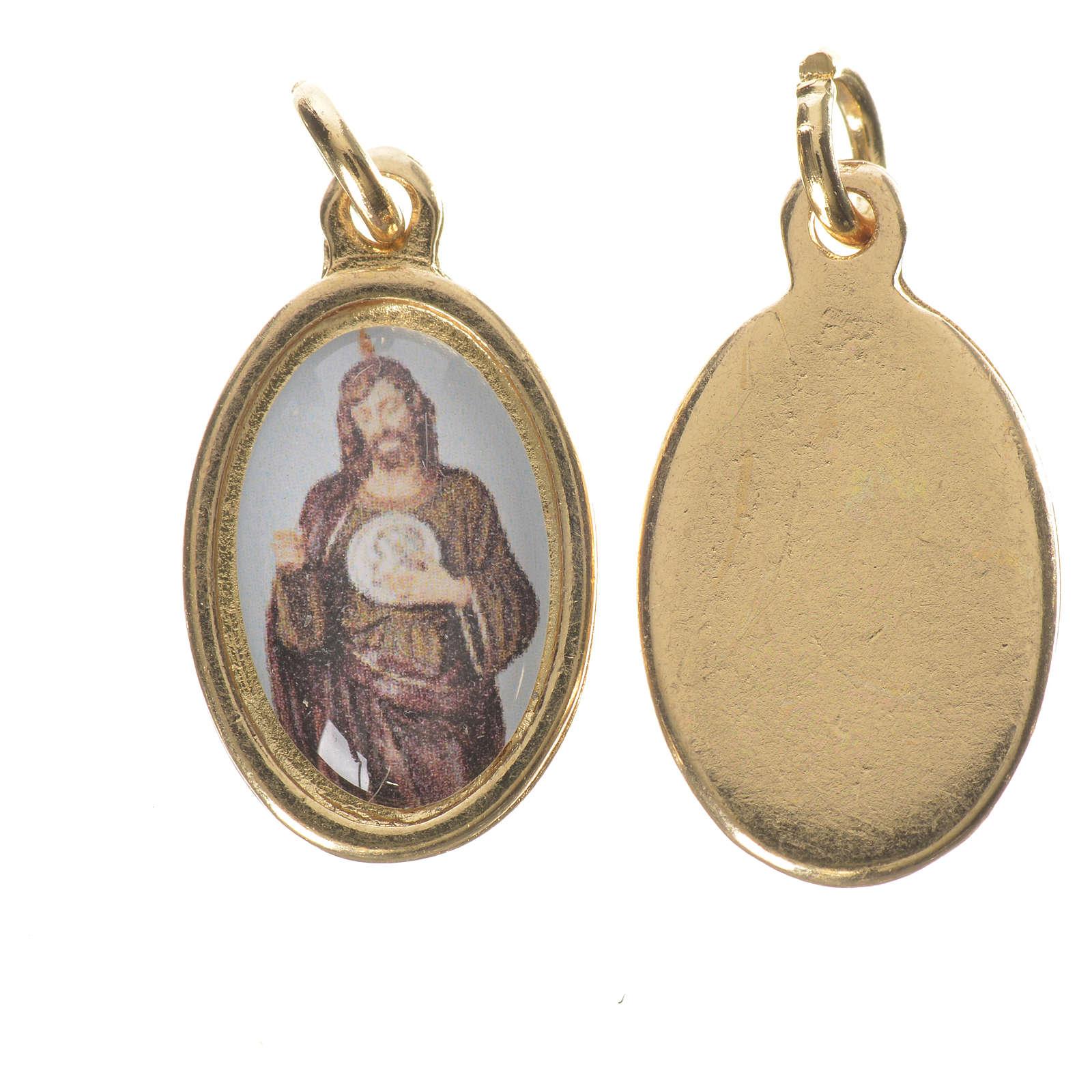 Medaglia  S. Giuda Taddeo metallo dorato altezza 1,5cm 4