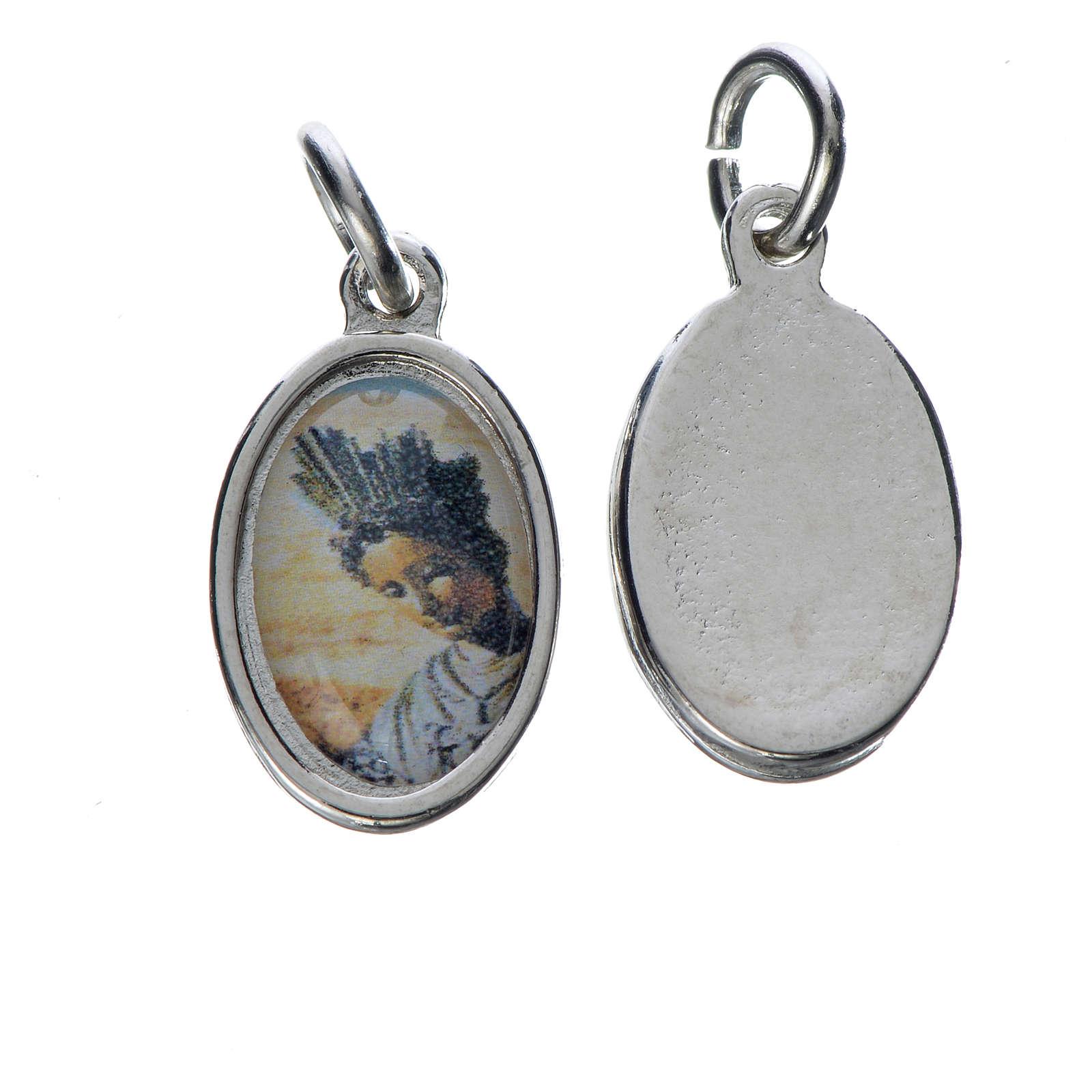 Medaglia N.D. de la Salette metallo argentato 1,5cm 4