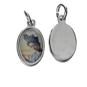 Medals: Notre Dame de la Salette medal in silver metal, 1.5cm