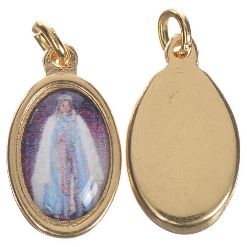 Saint Sarah Medal in golden metal, 1.5cm 1