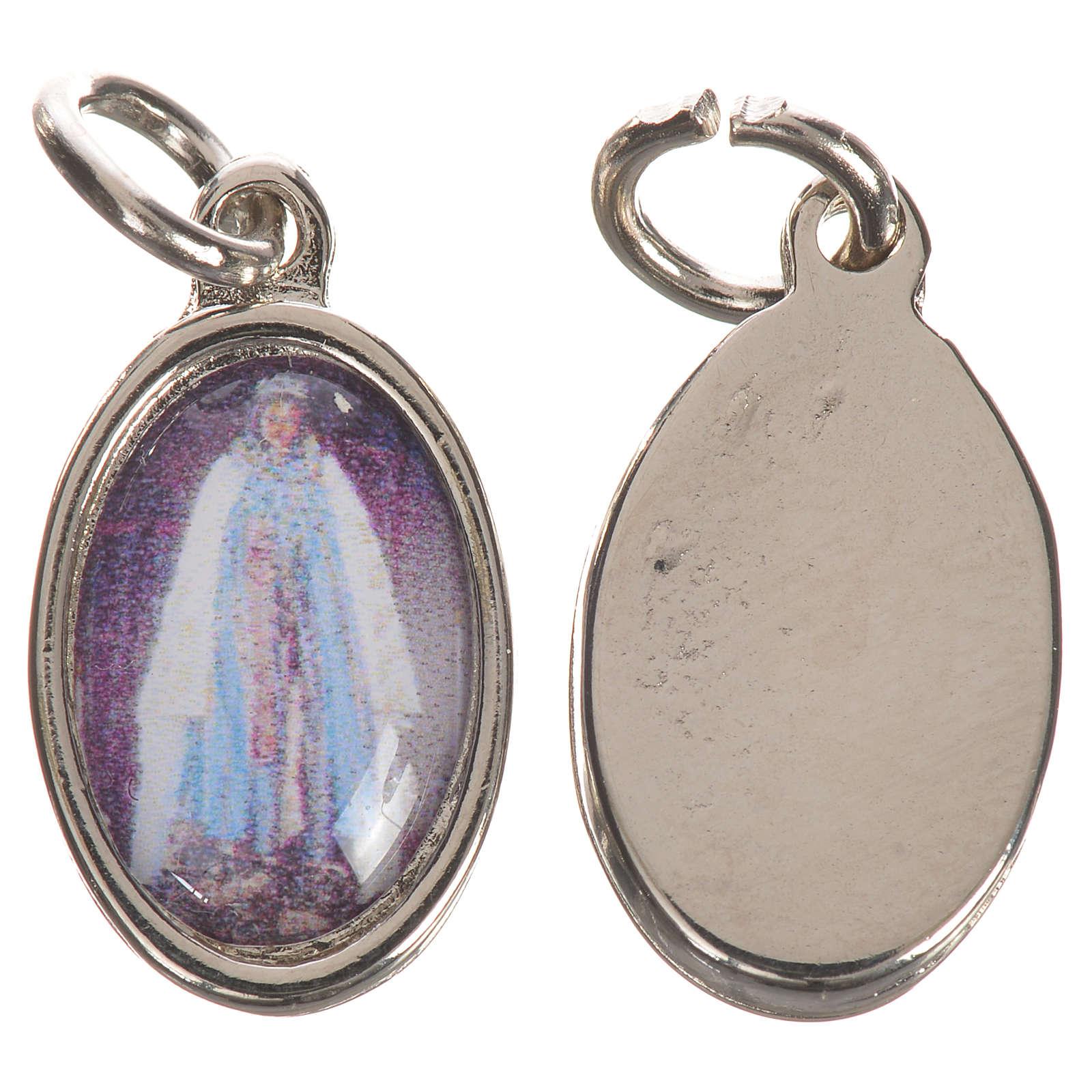 Saint Sarah Medal in silver metal, 1.5cm 4