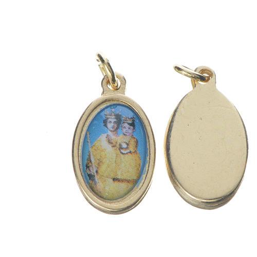 Notre Dame de Grâce medal in golden metal, 1.5cm 1