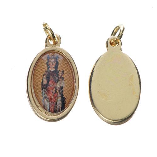 Notre Dame de Fenestre medal in golden metal, 1.5cm 1