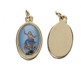 Medals: Notre Dame d'Utelle medal in golden metal, 1.5cm