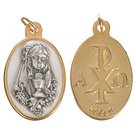 Young girl medal, metal and enamel, 2.2cm s1