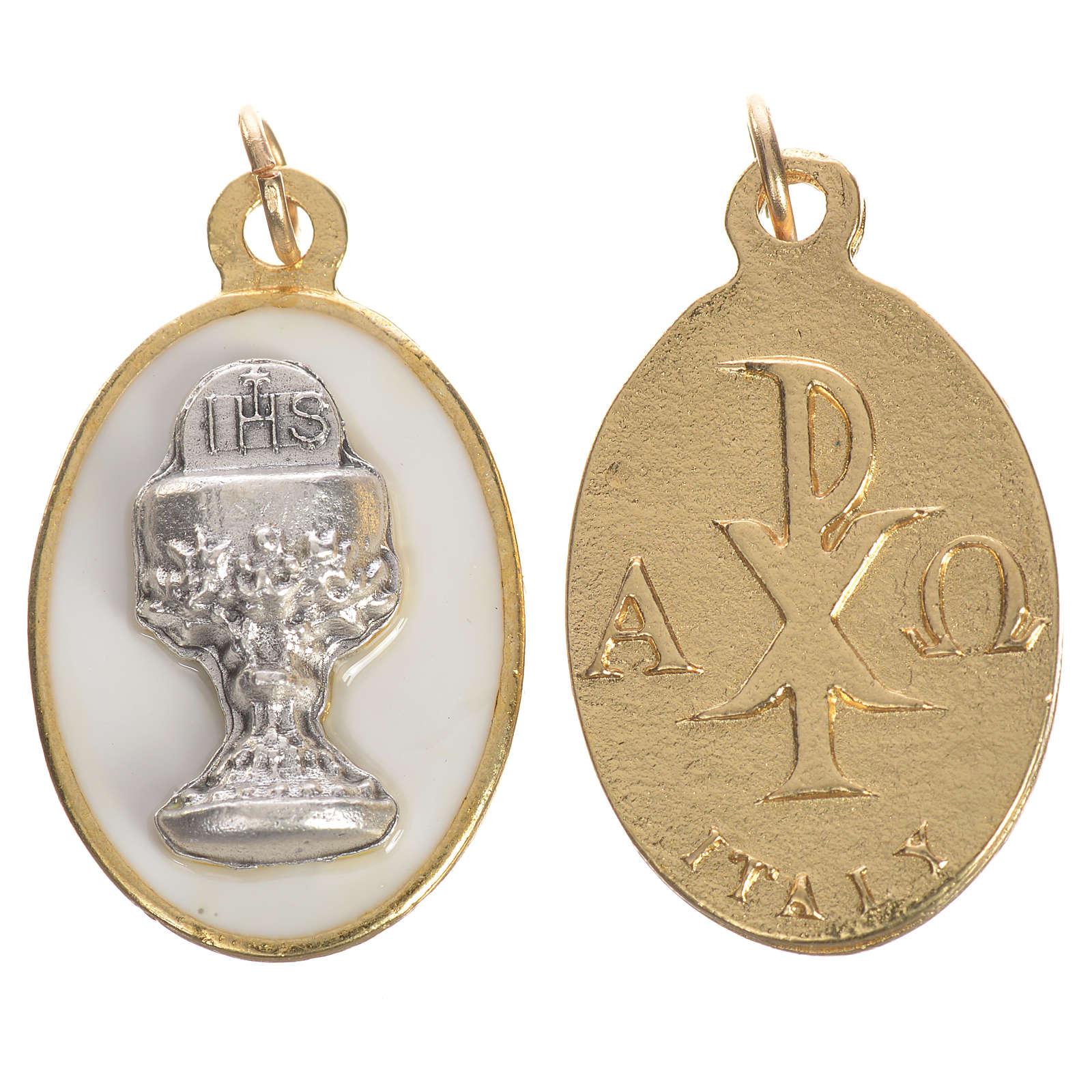 Medaglia Calice metallo smalto 2,2 cm 4