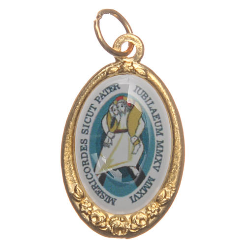STOCK Jubilee of Mercy medal in golden metal 1
