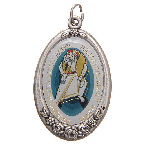 STOCK Jubilee of Mercy medal with Pope Francis 4.2x2.7cm 1