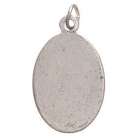 Medalla Santa Faustina galvánica plata antigua plata 2,1 cm s2