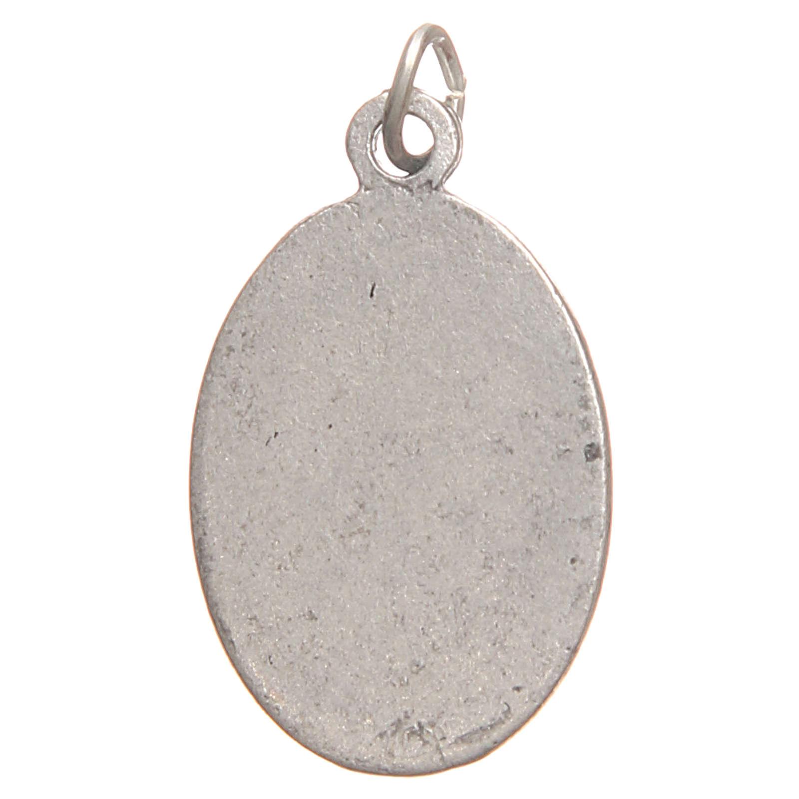 Médaille pendentif Sainte Faustine galvanisée argent vieilli 2,1 cm 4