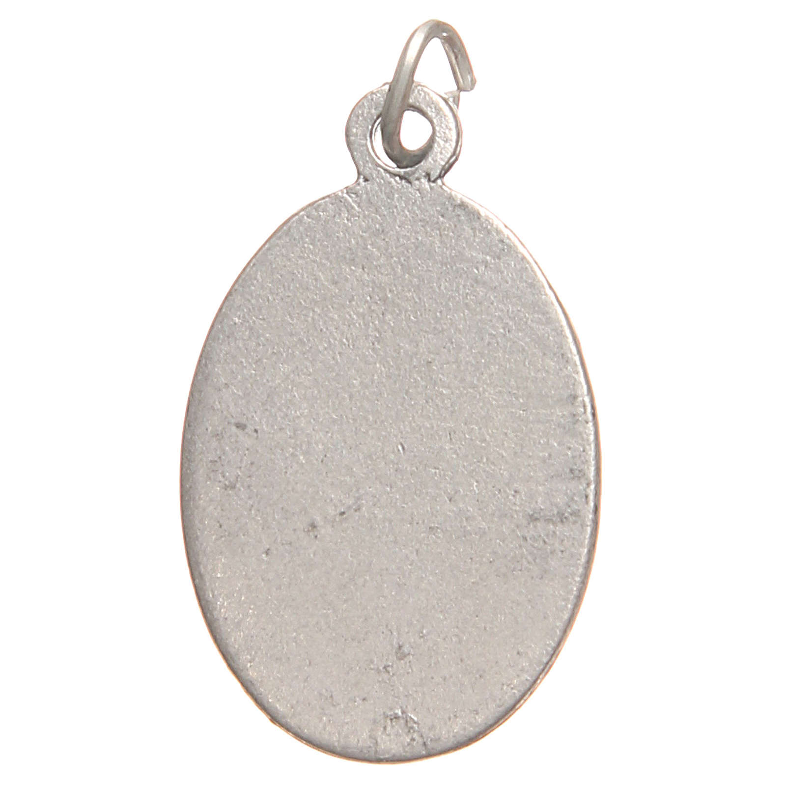 Medaglietta San Faustina galvanica argento antico rosso 2,1 cm 4