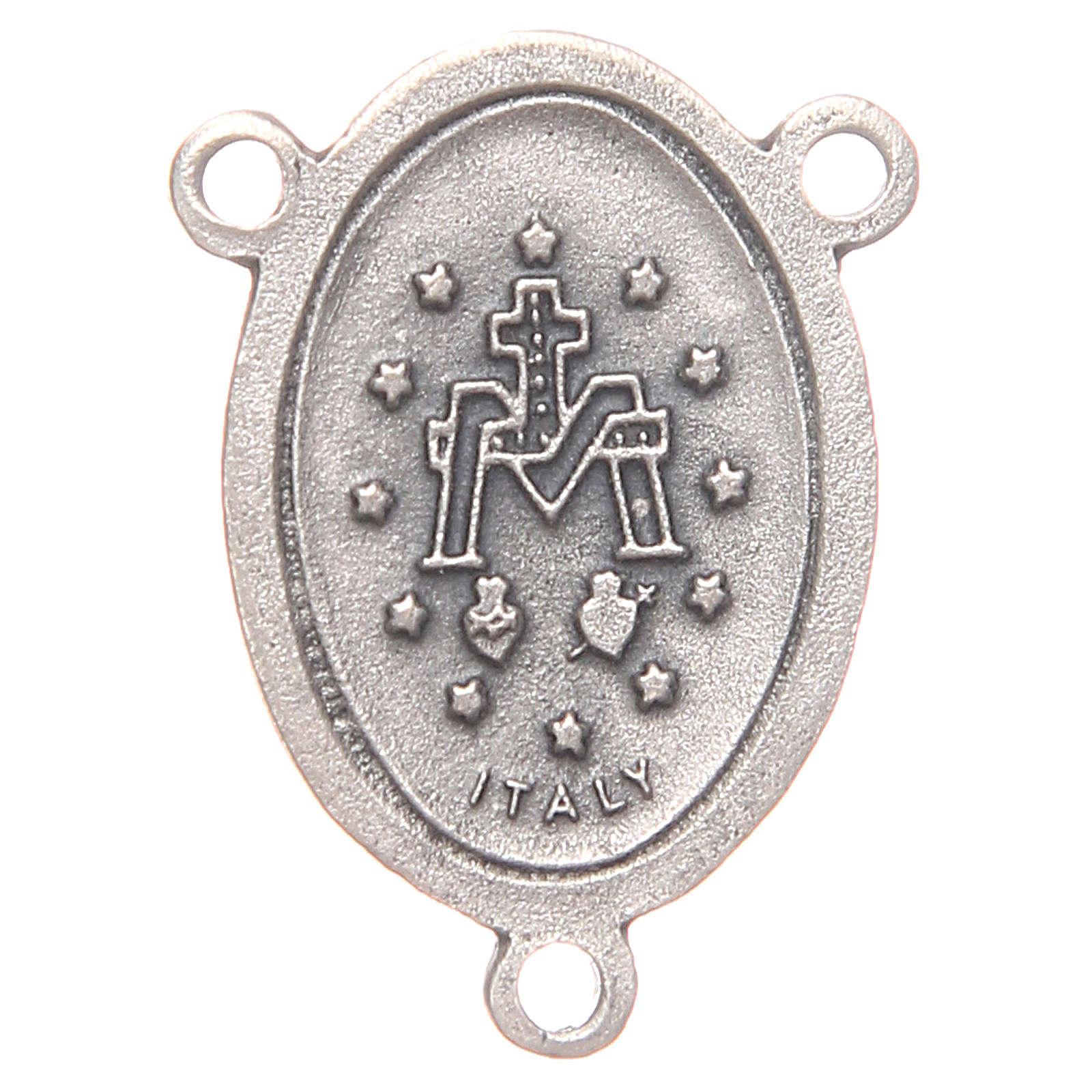 Mittelstück für Rosenkranz, oval, Wundertätige Madonna, 2,4 cm 4