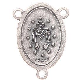 Mittelstück für Rosenkranz, oval, Wundertätige Madonna, 2,4 cm s2