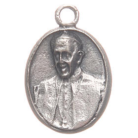 Pequeña medalla Papa Francisco y Jesús Misericordioso s1