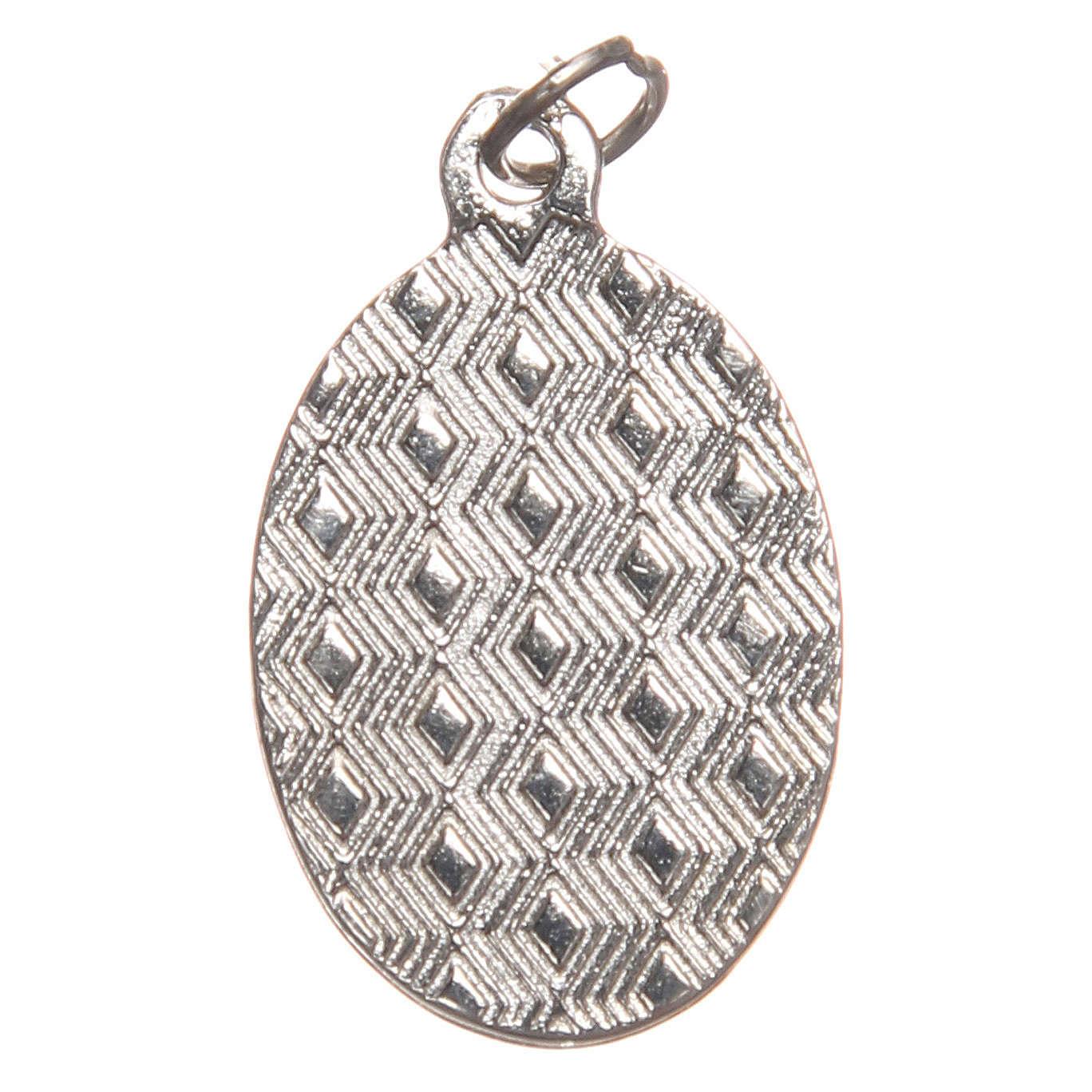 STOCK Medalha Última Ceia metal niquelado resina 2,5 cm 4