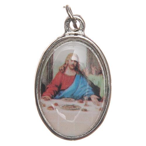 STOCK Medal Last Supper nickel-plated metal 2,5cm 1