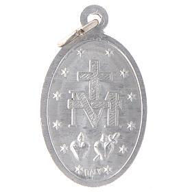 STOCK Medaglia Madonna Miracolosa alluminio argentato s2