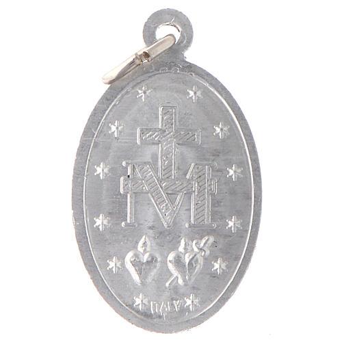 STOCK Medaglia Madonna Miracolosa alluminio argentato 2