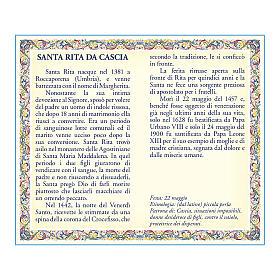 Medalla Cadena Cartulina Santa Rita de Casia Oración ITA s2