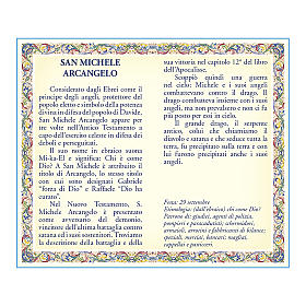 Saint Micheal the Archangel medal with chain and card with prayer in ITALIAN s2