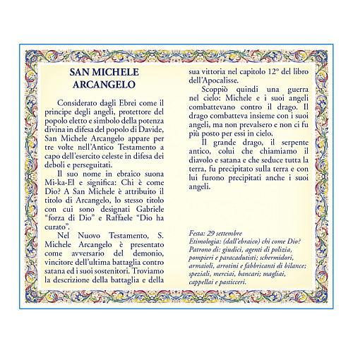 Medalla Cadena Cartulina San Miguel Arcángel Oración ITA 2