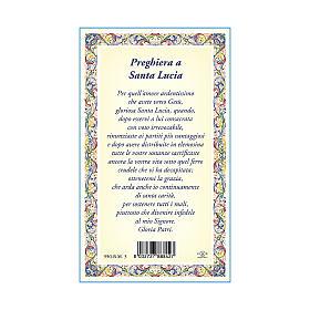Medalla Cadena Cartulina Santa Lucía Oración ITA s3