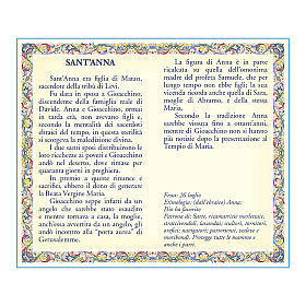Saint Anne medal with chain and card with prayer in ITALIAN s2