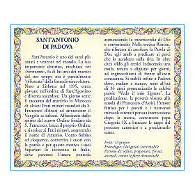 Saint Anthony of Padua medal with chain and card with prayer in ITALIAN s2