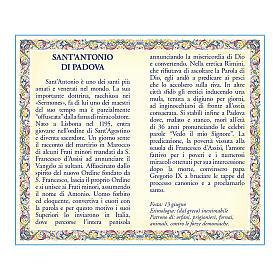 Médaille Chaîne Carte St Antoine de Padou prière ITA s2
