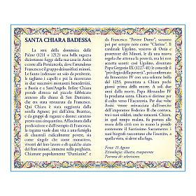 Medaglia Catenina Cartoncino Santa Chiara Preghiera ITA s2