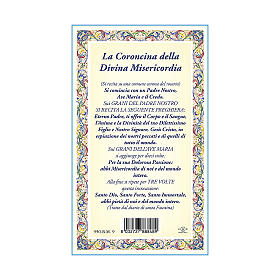 Jesus the Compassionate medal with chain and card with Chaplet of the Divine Mercy prayer in ITALIAN s3