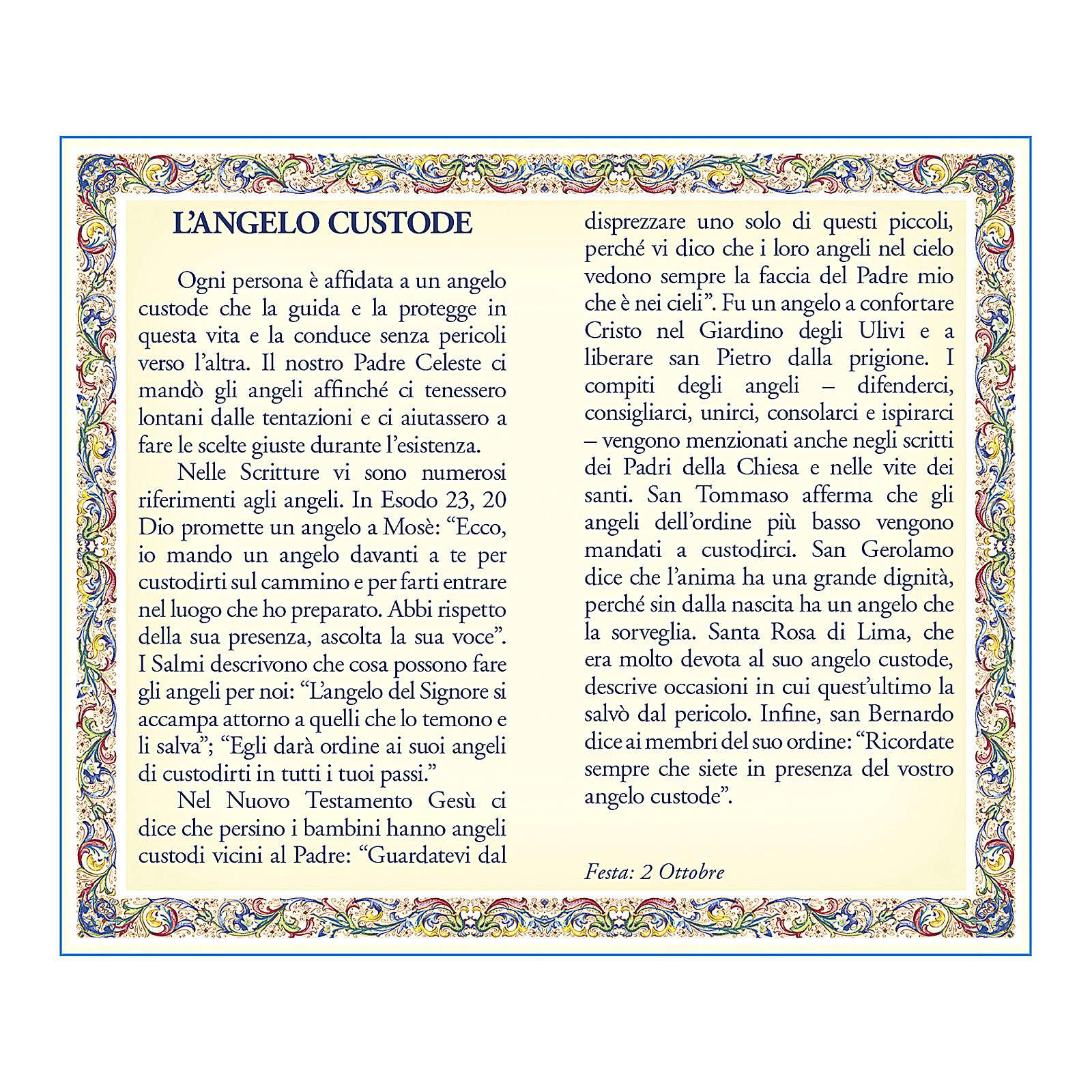 Médaille Chaîne Carte Ange Gardien Ange de Dieu ITA 4