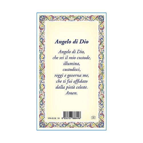 Médaille Chaîne Carte Ange Gardien Ange de Dieu ITA 3