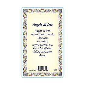 Medaglia Catenina Cartoncino Angelo Custode Angelo di Dio ITA s3