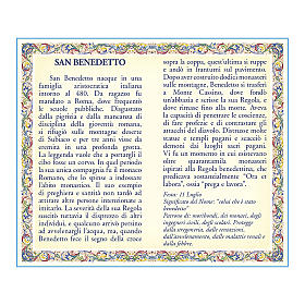 Saint Benedict medal with chain and card with prayer in ITALIAN s2