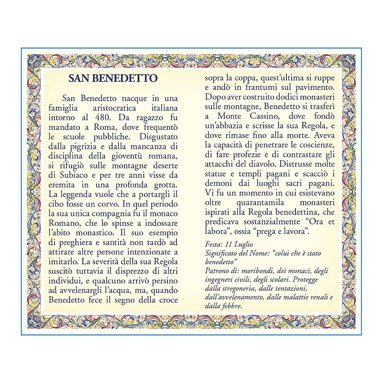 Médaille Chaîne Carte St Benoît prière ITA 4