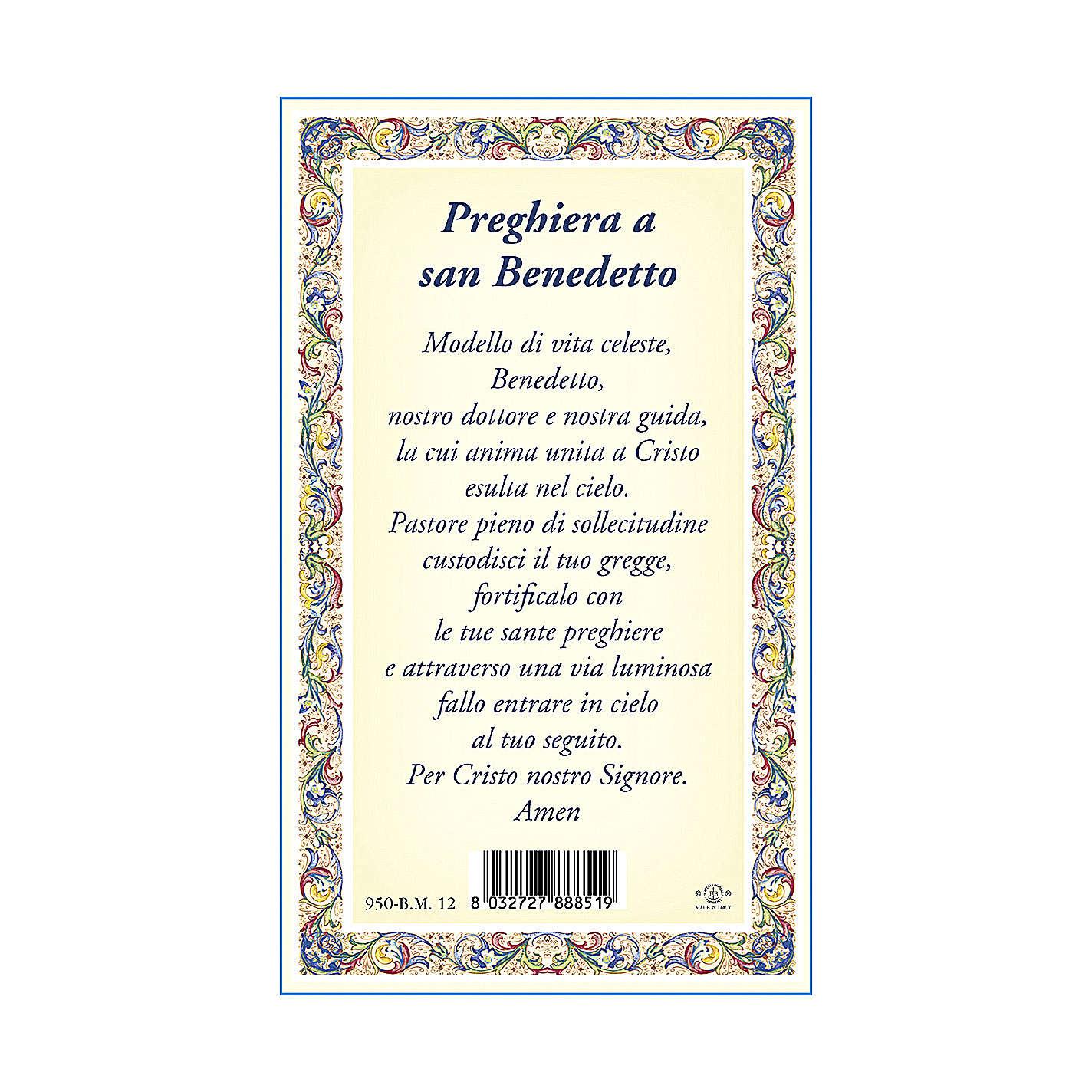 Medaglia Catenina Cartoncino San Benedetto Preghiera ITA 4