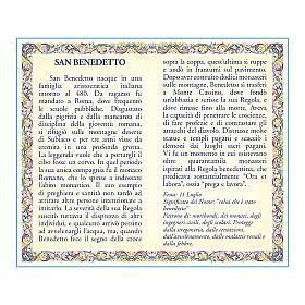 Medaglia Catenina Cartoncino San Benedetto Preghiera ITA s2