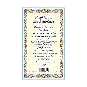 Medaglia Catenina Cartoncino San Benedetto Preghiera ITA s3