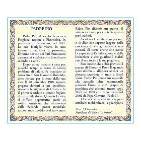 Medaglia Catenina Cartoncino San Pio da Pietrelcina Preghiera ITA s2
