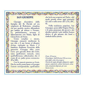Saint Joseph medal with chain and card with prayer in ITALIAN s2