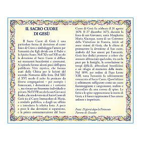 Medalla Cadena Cartulina Sagrado Corazón de Jesús Oración ITA s2