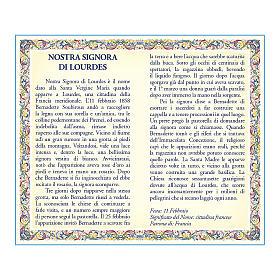 Medalla Cadena Cartulina Virgen de Lourdes Novena ITA s2
