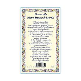 Medalla Cadena Cartulina Virgen de Lourdes Novena ITA s3