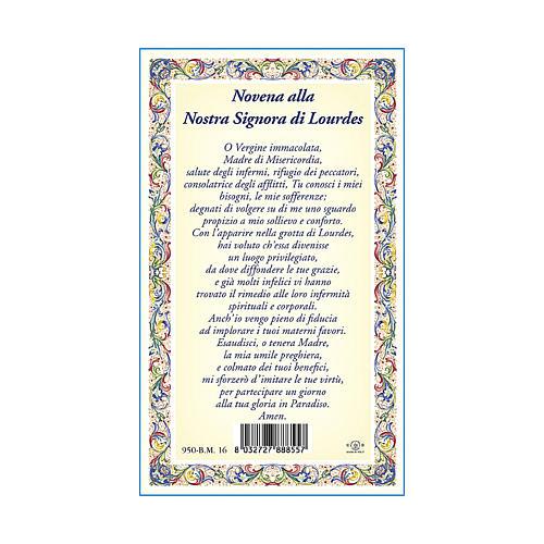 Medalla Cadena Cartulina Virgen de Lourdes Novena ITA 3