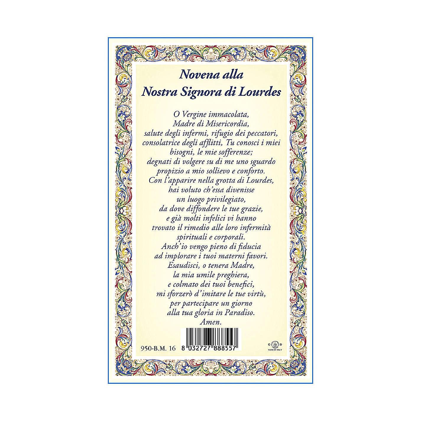 Médaille Chaîne Carte Notre-Dame de Lourdes Neuvaine ITA 4