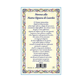 Our Lady of Lourdes medal with chain and card with Novena to Our Lady of Lourdes prayer in ITALIAN s3