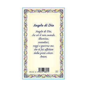 Medalla Cadena Cartulina Ángel de la Guarda Ángel de Dios ITA s3