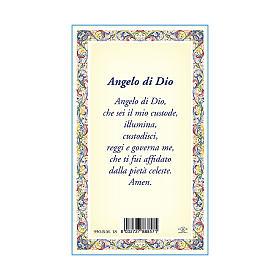 Médaille Chaîne Carte petit Ange Gardien Ange de Dieu ITA s3