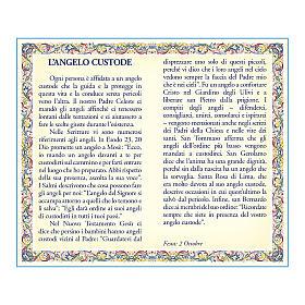 Medaglia Catenina Cartoncino Angelo Custode Angelo di Dio ITA s2